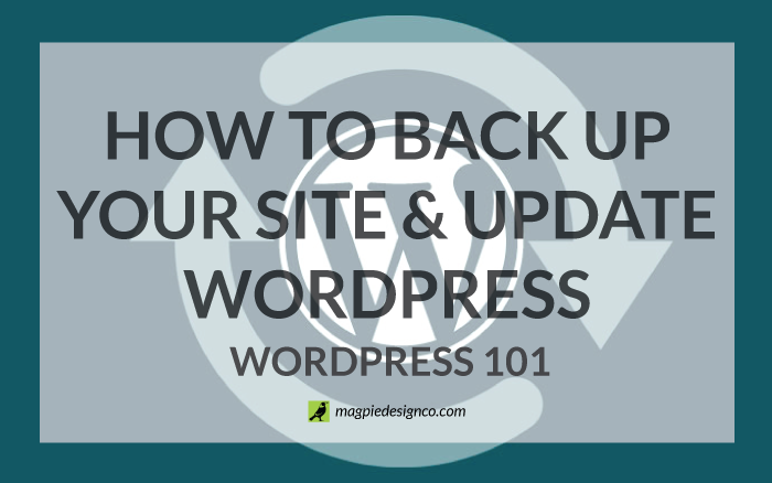 How to Backup Your Site and Update WordPress